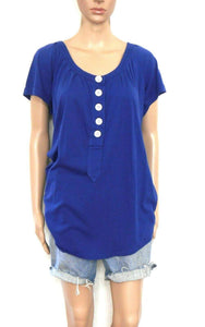 Country Road tunic top, free flowing, dark blue, sz.10-12/XS, NWOT