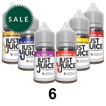 30ml / 24mg - 6 Bottles Mix Flavors - Subscription