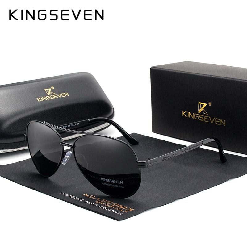 KINGSEVEN 2019 New Aviation Alloy Frame HD Polarized Sunglasses