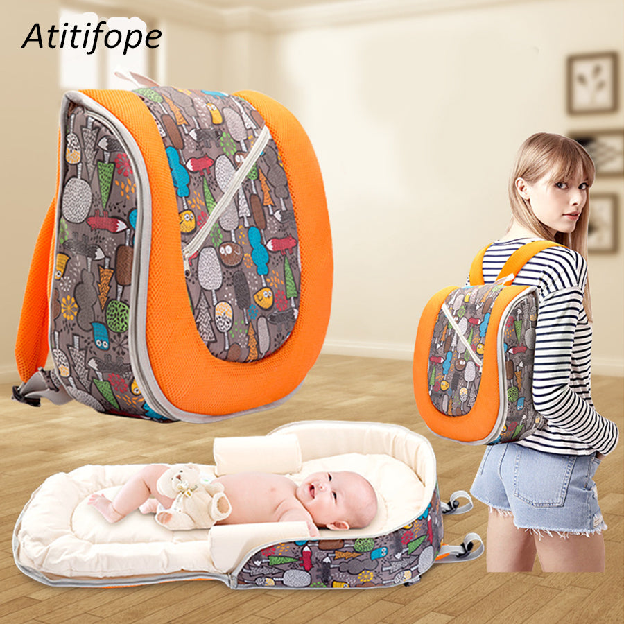 Multi-function Baby Portable Crib Bed Mummy Bag