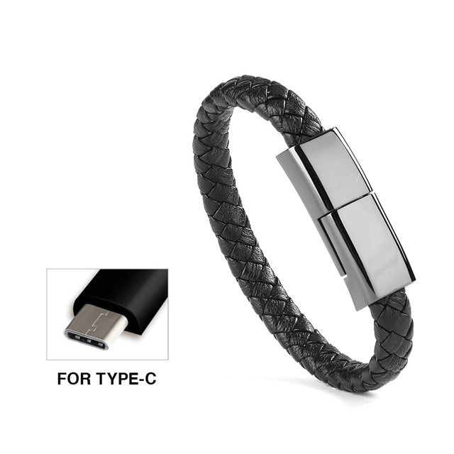 Portable Micro USB Mobile Phone Charger CableLink Sports Bracelet