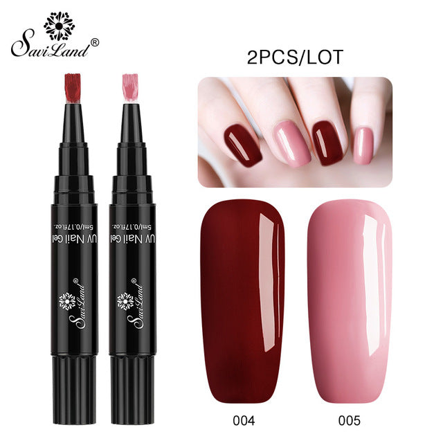 FREE PLUS SHIPPING ~ 2PCS/LOT One Step Nail Polish Gel Pen