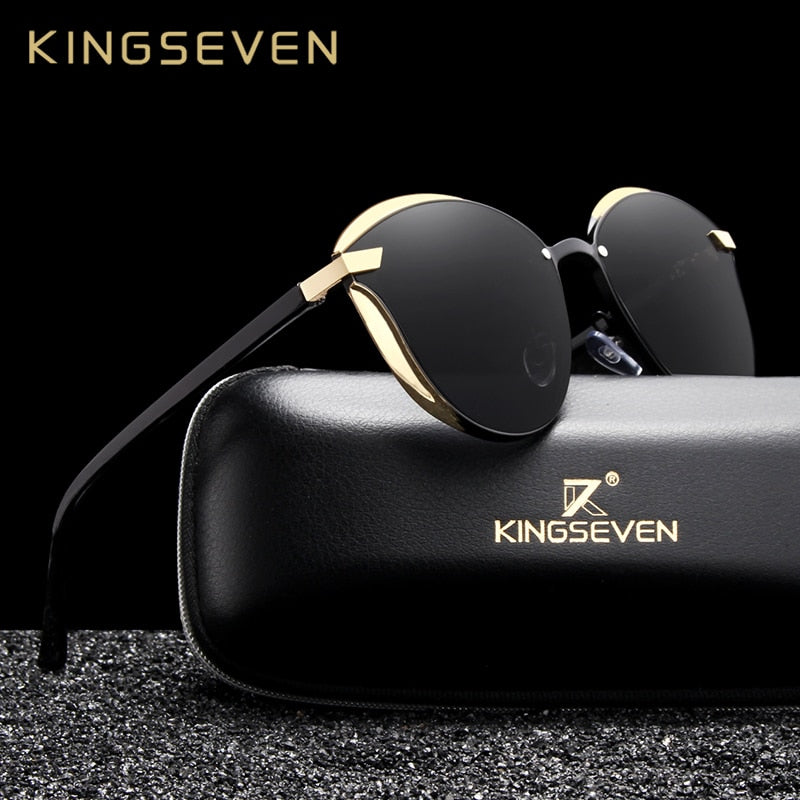 KINGSEVEN Modern Cat Eye Oculos Women Polarized Sunglasses
