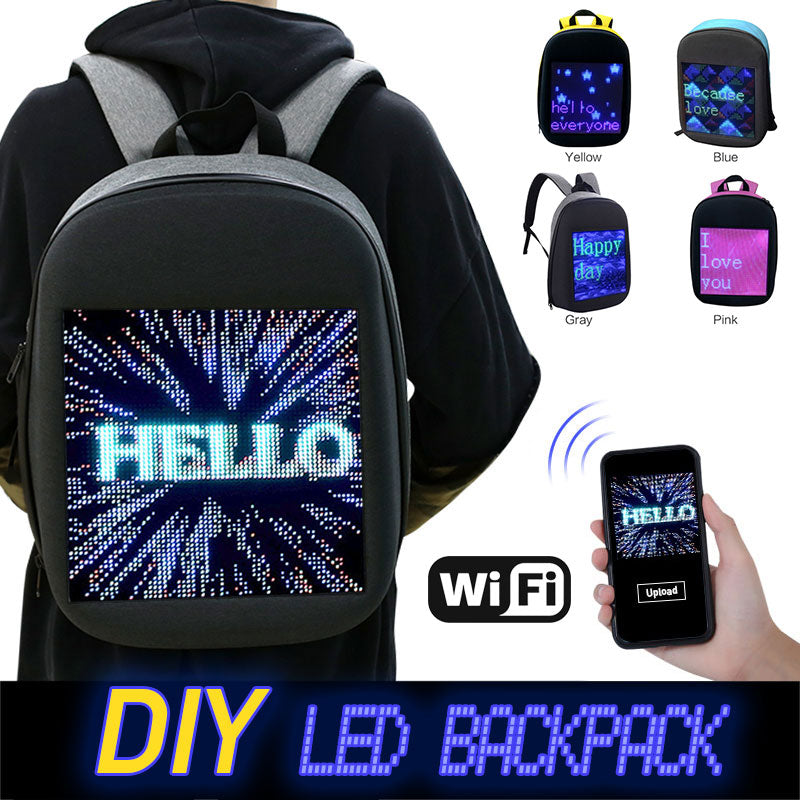 Fashion Waterproof WiFi Smart LED Screen Dynamic Backpack