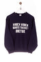 Knock knock. Who's there? Doctor. Print Sweatshirt Navy