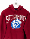 Scott Community College Logo Print Hoodie Rot - Champion at Zeitgeist Vintage