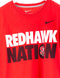 Redhawk Nation Swoosh Print T-Shirt Rot
