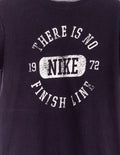 There is no finish line Print T-Shirt Schwarz