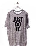 Just Do It Oversize Print T-Shirt Grau
