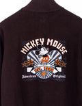Mickey Logo Stick Sweatjacke Braun - Disney at Zeitgeist Vintage