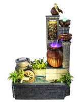 Modern home office water ornaments waterwheel crafts fountains creative European Roma landscape decoration fish tank aquarium