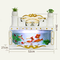 Aquarium Living Room Small Desktop Creative European Rectangular Glass Lazy Free Water Ecological Goldfish Tank Aquarium
