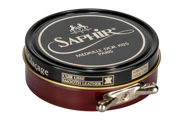 08 Burgundy - Saphir Medaille D'or Pate-De-Luxe Beeswax Shoe Polish 100ml - The Shoe Snob