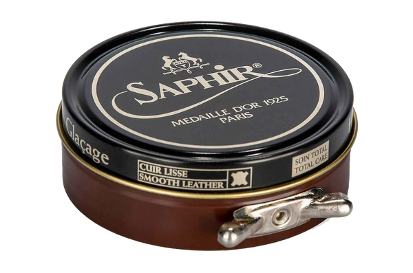 10 Cognac - Saphir Medaille D'or Pate-De-Luxe Beeswax Shoe Polish 100ml - The Shoe Snob
