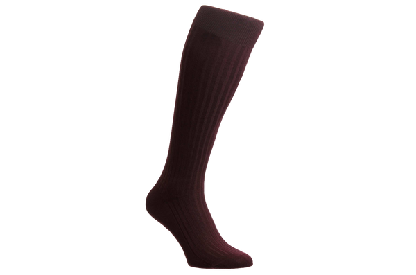 Danvers Fil d'Ecosse - Men's Burgundy Socks