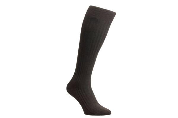 Danvers Fil d'Ecosse - Men's Dark Brown Socks
