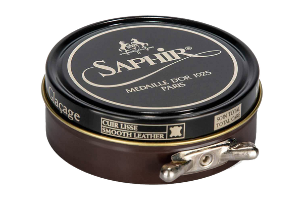 05 Dark Brown - Saphir Medaille D'or Pate-De-Luxe Beeswax Shoe Polish 100ml - The Shoe Snob