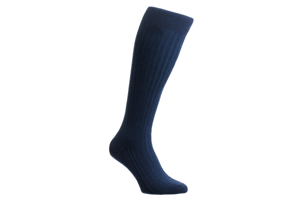 Laburnum Merino Wool – Men's Dark Blue Socks