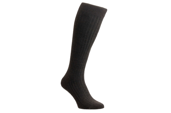 Laburnum Merino Wool – Men's Dark Brown Socks