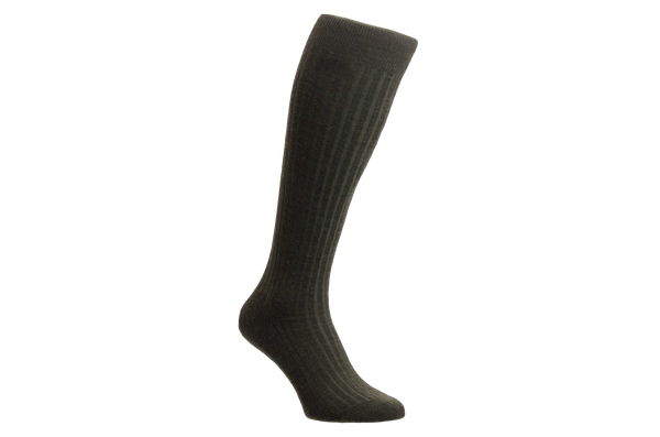 Laburnum Merino Wool – Men's Dark Olive Socks