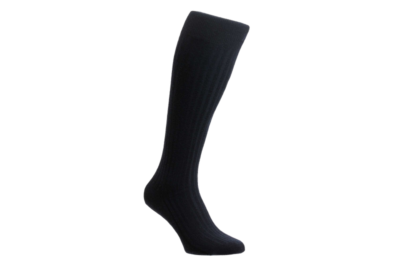 Pantherella Laburnum Merino Wool 6796 – Men's Navy Socks