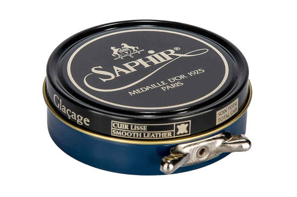 06 Navy Blue - Saphir Medaille D'or Pate-De-Luxe Beeswax Shoe Polish 100ml - The Shoe Snob