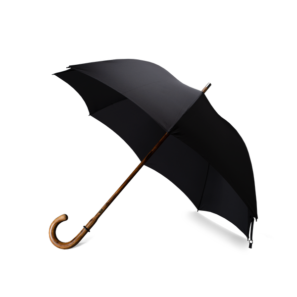 Wooden Shaft Hickory Handle Fox Umbrella RS6 - Black