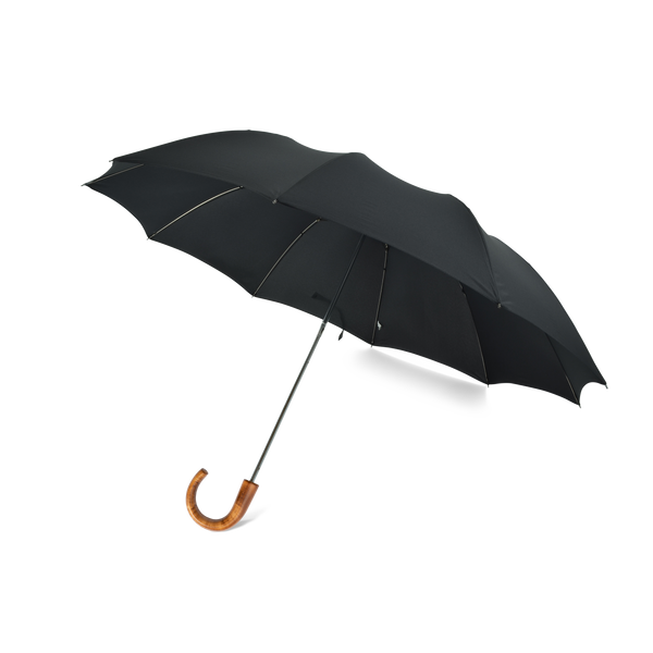 Telescopic Maple Crook Handle Fox Umbrella - Black