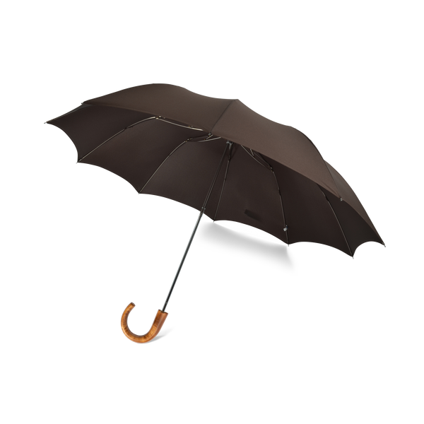 Telescopic Maple Crook Handle Fox Umbrella - Brown