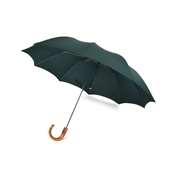Telescopic Maple Crook Handle Fox Umbrella - Green