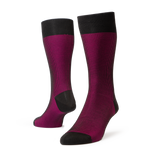 Soho Fil D'Ecosse - Men's Charcoal/Fuchsia Socks - The Shoe Snob