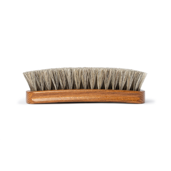 6 Inch 100% Horsehair Shine Brush - Natural - The Shoe Snob