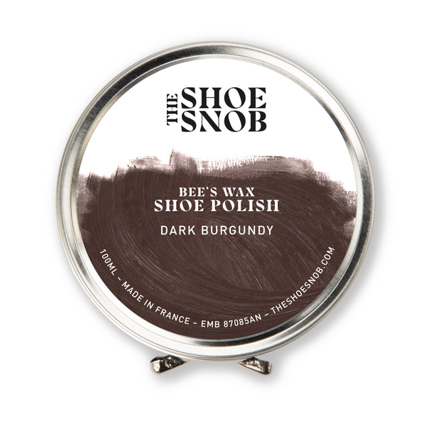 Beeswax Shoe Polish - Dark Burgundy