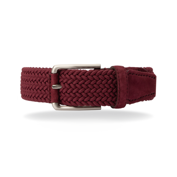 Braided Belt - Burgundy/Burgundy Suede