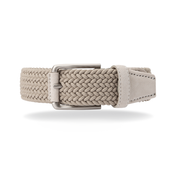 Braided Belt - Ice White