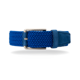 Braided Belt - Royal Blue Suede