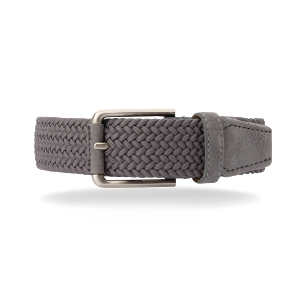Braided Belt - Grey/Grey Suede