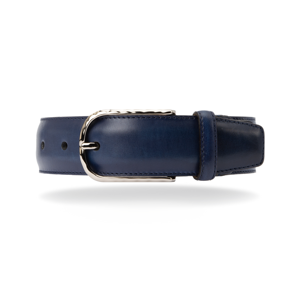 Leather Belt - Blue Calf
