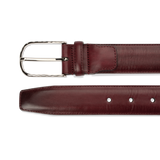 Leather Belt - Burgundy Calf - The Shoe Snob