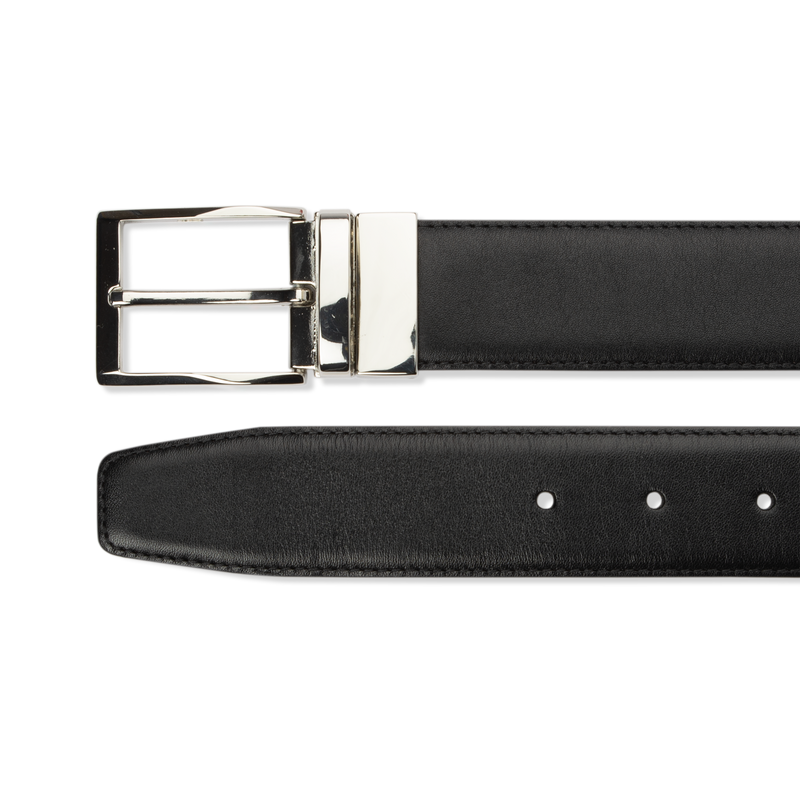 Leather Belt Reversible - Black Calf/Brown Calf