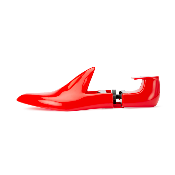 Red Plastic Travel Shoe Trees