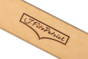 J.FitzPatrick Logo on Chocolate Brown - Men Suede Belt
