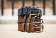 Load image into Gallery viewer, Dark Blue, Dark & Light Brown Suede Belts for Men