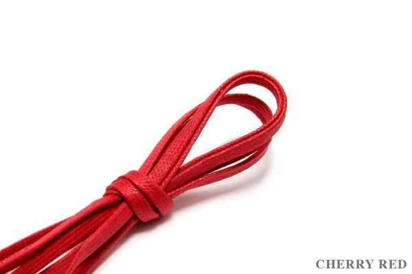 75cm Flat Waxed Dress Shoe Laces - Cherry Red
