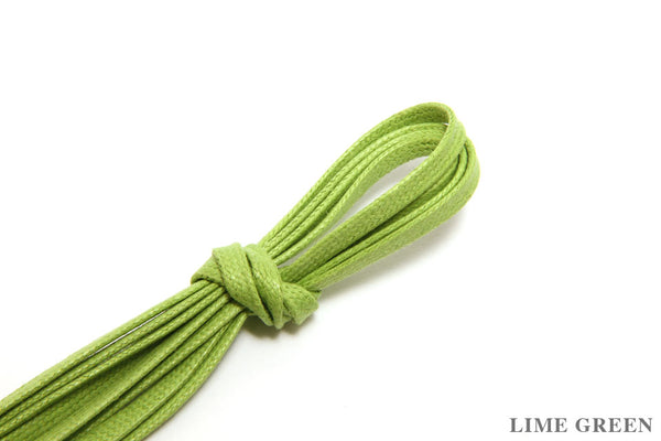 75cm Flat Waxed Dress Shoe Laces - Lime Green