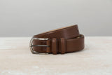 Caramel Colour Calf Leather Belt for Men