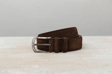 Load image into Gallery viewer, Chocolate Brown - Men Suede Belt | J.FitzPatrick Belts For Men