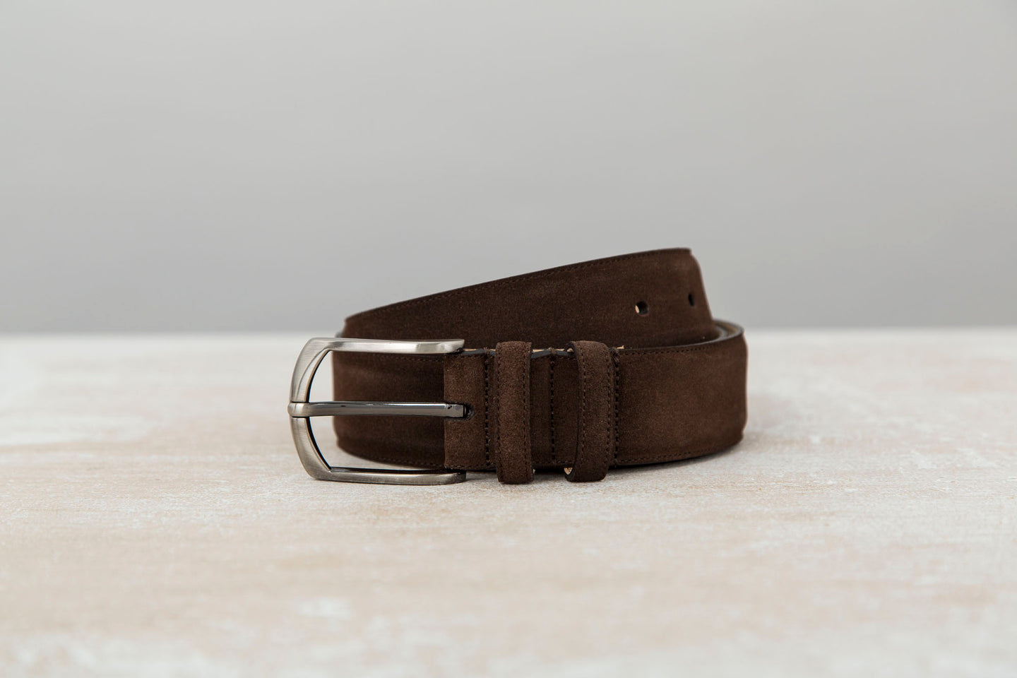 Chocolate Brown - Men Suede Belt | J.FitzPatrick Belts For Men