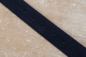 Suede Belt - Dark Blue - The Shoe Snob Shop