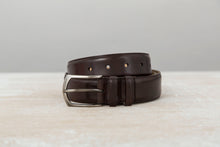 Load image into Gallery viewer, Leather Belt - Dark Brown Museum Calf - The Shoe Snob Shop